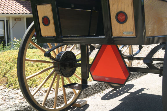 Wagonette red lights and brakes